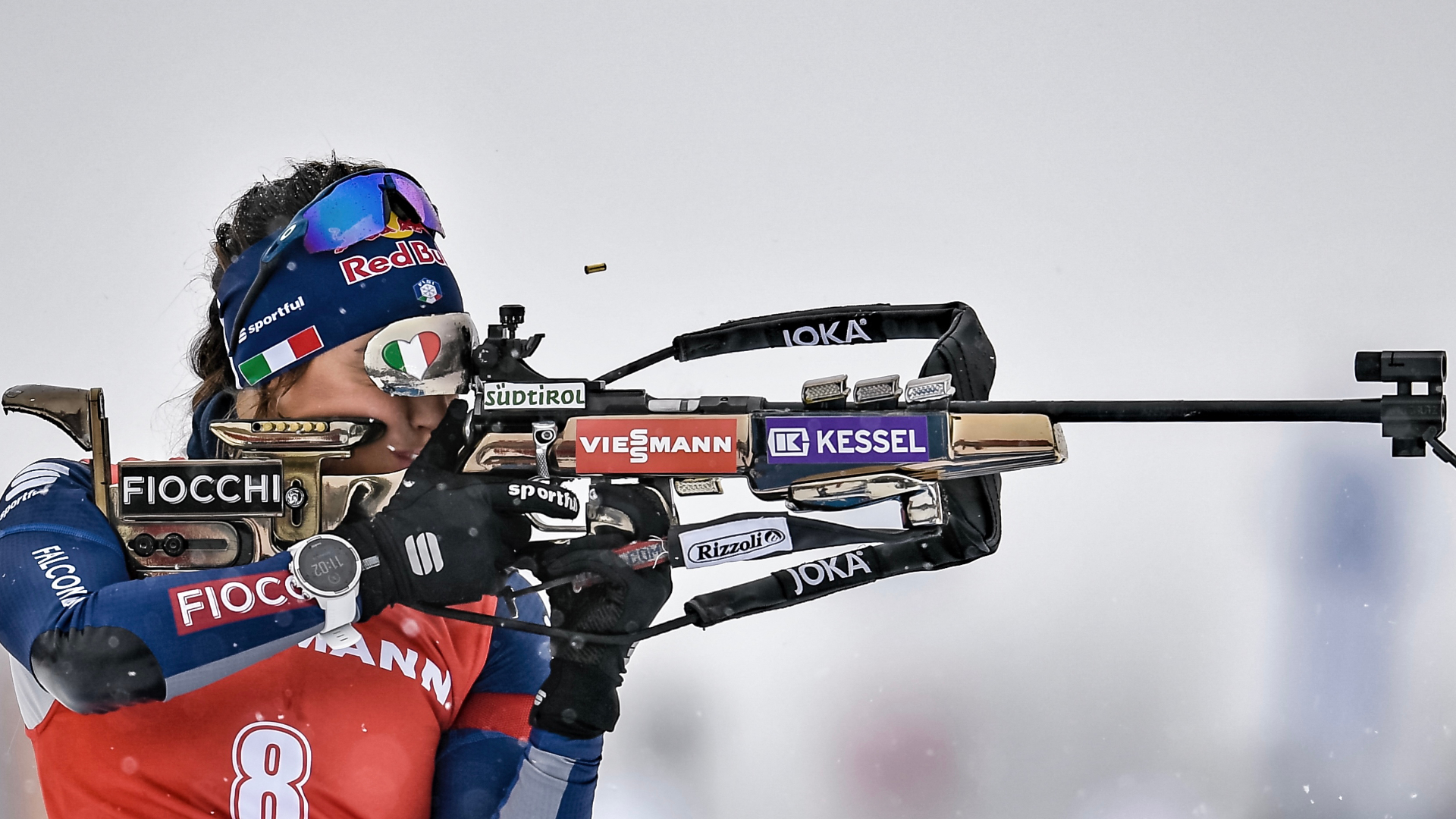 BIATHLON. SILVER AND GOLD MEDALS IN OBERHOF