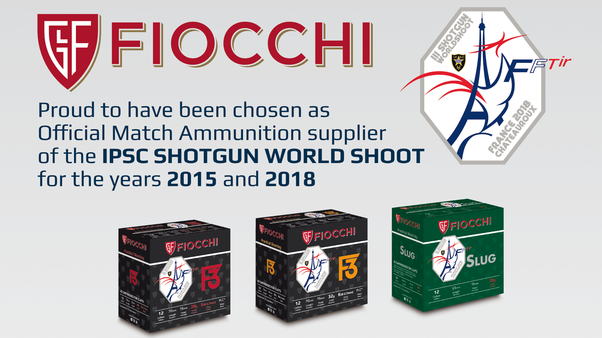 IPSC CHOOSES FIOCCHI AS OFFICIAL MATCH AMMUNITION SUPPLIER FOR THE III SHOTGUN WORLD SHOOT