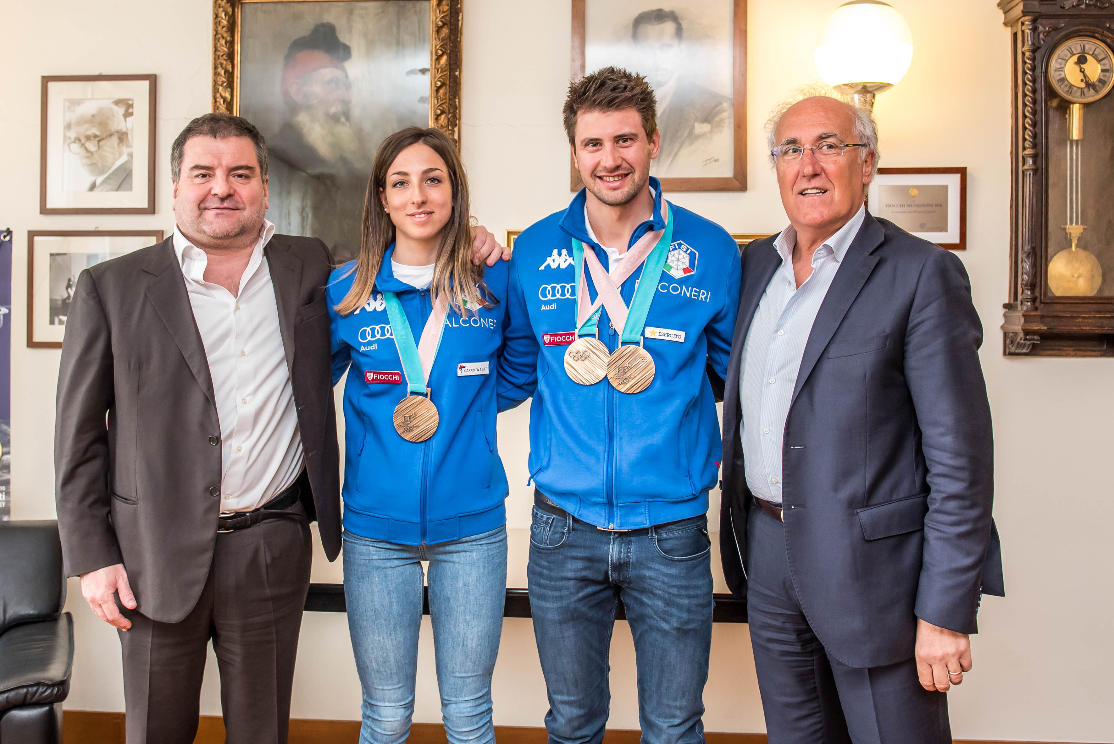 ITALIAN BIATHLON CHAMPIONS SPENT A DAY AT OUR HEADQUARTER