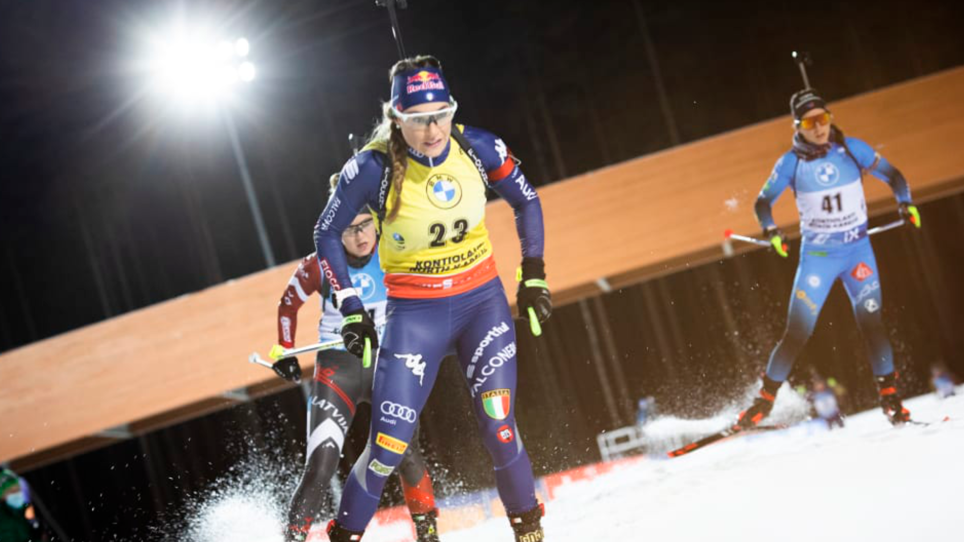 BIATHLON. GOLD MEDAL IN THE FIRST WORLD CUP STAGE IN KONTIOLAHTI.
